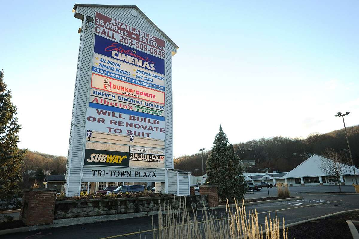 Two large empty retail spaces that Adams grocery and Ames locations once occupied at the Tri-Town Plaza at 814 Derby Avenue in Seymour, Conn. on Monday, December 5, 2016.