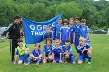 The OGRCC U11 Thunder blue team won the Connecticut Cup championship in its division last weekend. Team members include, bottom row, from left, Sean McConnell, Calvin Walker, Santiago Lattuada, Patrick O'Donohue, Augustin Grether and Johan Hodgson; top row, Finn Hugh-Jones, Xavier Echevarria, Lluis Costa Gonzalez, Harrison Goldenberg, Alex Hauschild and Tomas Biagini; coach Roger Chavez standing.Not in photo is Lee Huffard. The team is based in Old Greenwich and Riverside.
