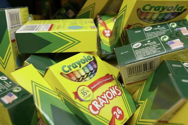 Boxes of crayons are shown at a Walmart Supercenter in Houston last summer. ( Melissa Phillip / Houston Chronicle )