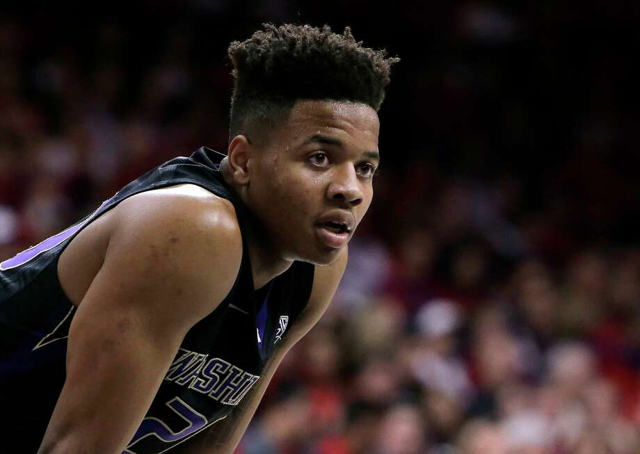 In this Jan. 29, 2017, file photo, Washington guard Markelle Fultz (20) is shown during the second half of an NCAA college basketball game against Arizona, in Tucson, Ariz. Fultz is the likely No. 1 pick in the NBA Draft on Thursday night, June 22. Photo: Rick Scuteri, FRE / FR157181 AP