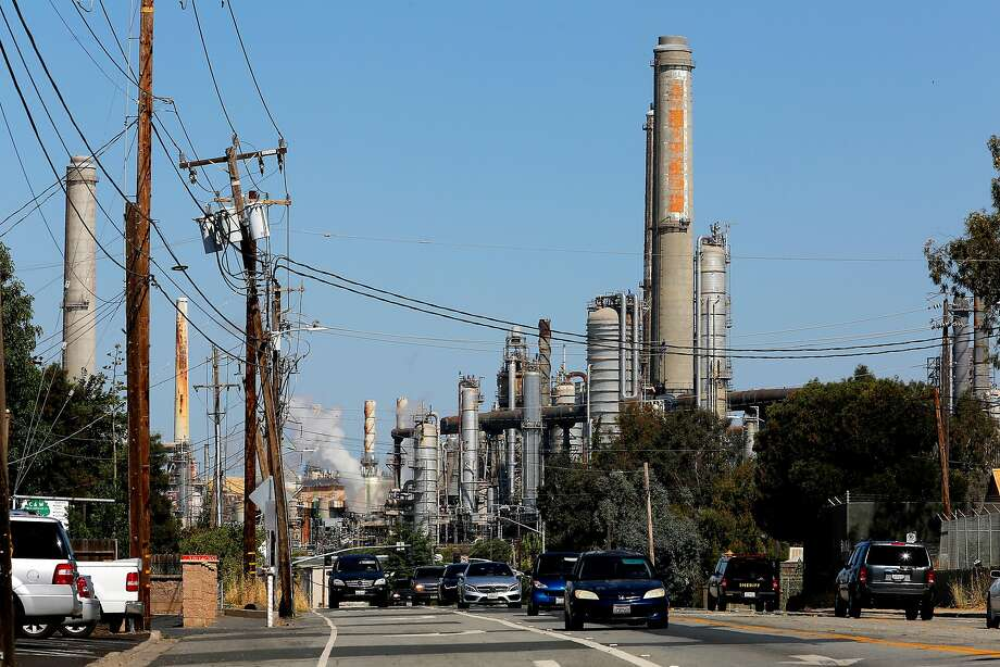 The Shell refinery in Martinez, Ca., as seen on Tuesday June 20, 2017, looking down Pacheco blvd. The Bay Area Air Quality Management District on Wednesday is expected to approve the nation's first limits on greenhouse gas emissions from oil refineries. Photo: Michael Macor, The Chronicle