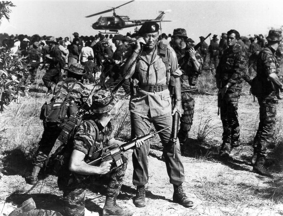 23. The Green Berets (1968) So those pinko college professors told you the Vietnam War was a bad thing, huh? Well, you'll think again, pardner, when John Wayne brings you the real story: Vietnam was actually World War II, Part 2, with cooler uniforms, helicopters and fully automatic weapons for everyone. Seriously, who are you going to believe: Some pipe-smoking, tweed-sport-coat-wearing