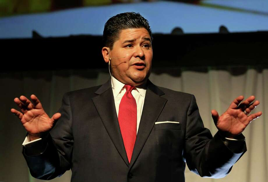 In this February 2017 file photo, Houston ISD Superintendent Richard Carranza gives his first State of Schools speech at Hilton Americas Hotel. ( Yi-Chin Lee / Houston Chronicle ) Photo: Yi-Chin Lee, Staff / © 2017  Houston Chronicle