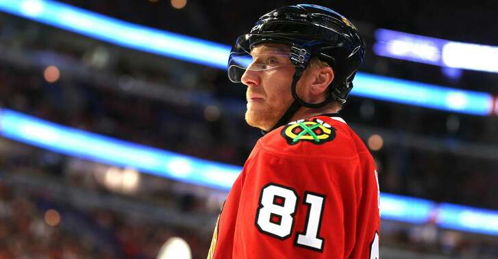 The Chicago Blackhawks' Marian Hossa (81) during the first period against the Vancouver Canucks at the United Center in Chicago on Tuesday, March 21, 2017. (Nuccio DiNuzzo/Chicago Tribune/TNS)