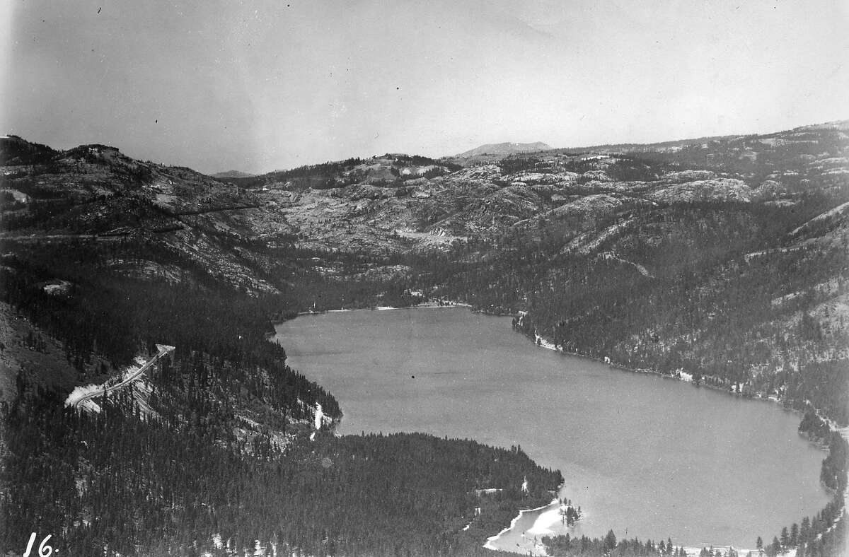 Airphoto Report: Lake Tahoe Barney Peterson hitched ride on a United Airlines Mainliner a took some shots of Lake Tahoe, the Sierra foothills and Yosemite on July 12, 1948 This is a photo of Donner Lake Note says: S.W., 1000 ft.