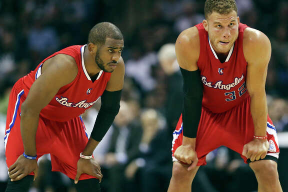 The Clippers' Chris Paul, left, and Blake Griffin could be on the Rockets' radar when free agency begins July 1.