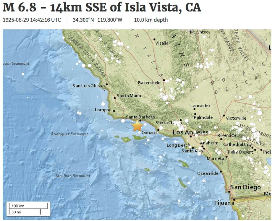 The USGS mistakenly sent out a new alert about a 1925 earthquake on Wednesday, June 21, 2017.Click through this slideshow to see people's reactions to a 3.3 magnitude earthquake that shook the Bay Area Wednesday. Photo: USGS
