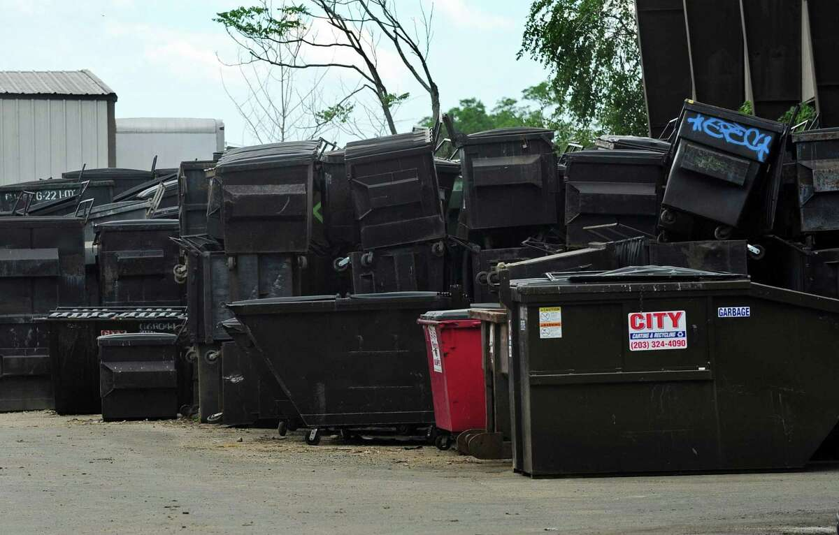 Dumpsters stored at 30 Meadow Street Wednesday, June 21, 2017, in Norwalk, Conn. Norwalk Zoning Commission likely votes Wednesday evening on controversial plan that would allow Meadow Street Partners to store empty solid-waste containers at facility at 6 and 30 Meadow St. in South Norwalk.