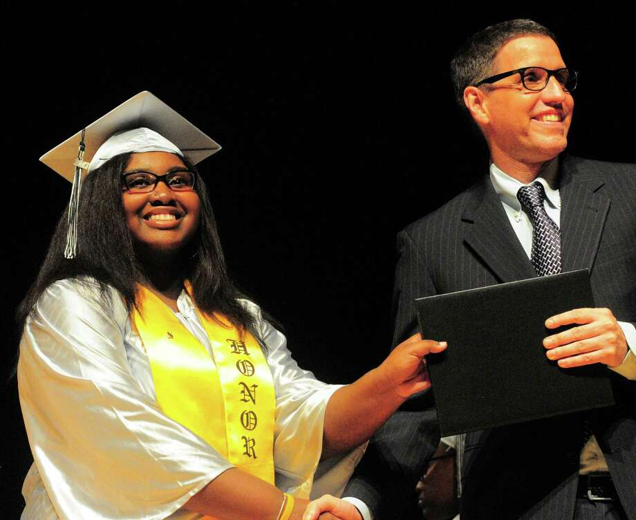 Bridge Academy's 20th Annual Commencement Exercises in Bridgeport, Conn., on Thursday June 21, 2017. Photo: Christian Abraham, Hearst Connecticut Media / Connecticut Post