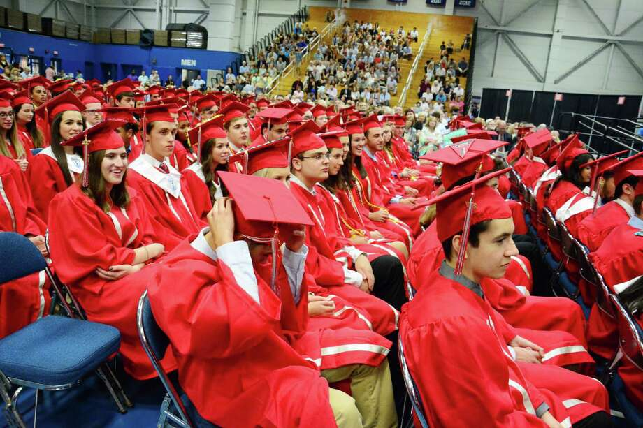 Pomperaug High School held it's Graduation Ceremony on Wednesday June 21, 2017 at Western Connecticut State University. Photo: Lisa Weir, For Hearst Connecticut Media / The News-Times Freelance