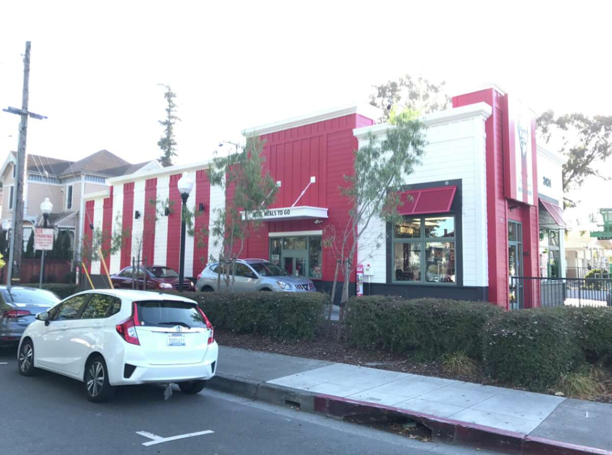 The KFC in Alameda will need to re-paint after the city council decided its new color scheme did not adhere to a previously agreed-upon palette.