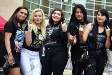 Fans at the Toyota Center for the Iron Maiden Book of Souls Tour in Downtown Houston TX, Wednesday June 21, 2017