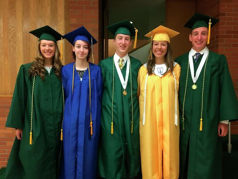 From left, Hailey Laplow, Olivia Beasley, Parker Thorson, Claire Bates and Lucas Shelton.