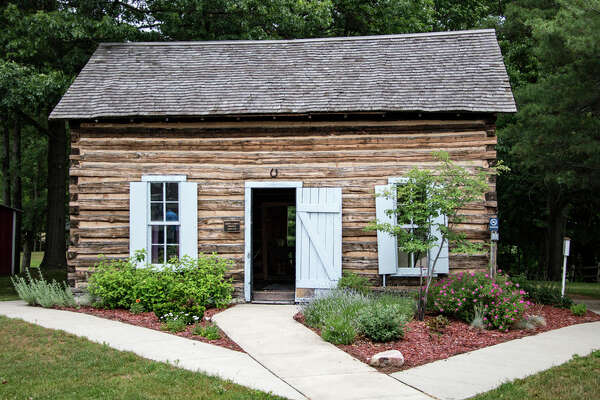 Visitors can tour the 1879 Smith log cabin at the Sanford Centennial Museum this weekend. Sunday is Log Cabin Day in Michigan. The cabin was moved to the site in 1971.