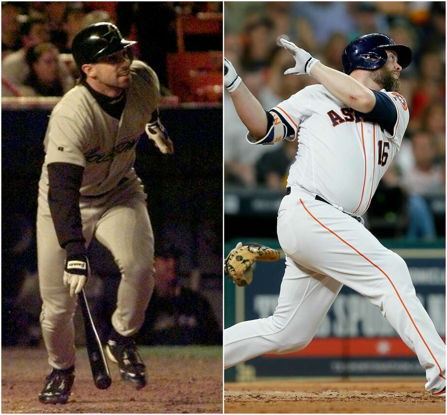 2017 ASTROS VS. 1998 ASTROSCatcher1998 Brad Ausmus.269, 6 HRs, 45 RBIs.356 OBP, .713 OPS2017 Brian McCann.268, 10 HRs, 40 RBIs (Projected: 21 HRs, 84 RBIs).351 OBP, .826 OPSADVANTAGE: 2017 ASTROS Photo: Houston Chronicle Sports