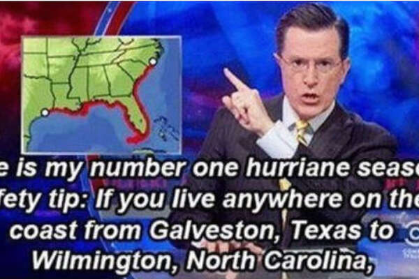 """I think @StephenAtHome has a point. #Cindy #TSCINDY #TropicalStormCindy."" Source:  Twitter"
