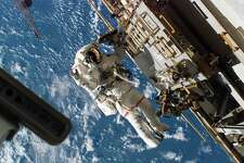 In this image made available Thursday, Aug. 16, 2007 by NASA, Astronaut Rick Mastracchio, STS-118 mission specialist, participates in the mission's third planned session of extravehicular activity (EVA) as construction and maintenance continue on the International Space Station, Wednesday Aug. 15, 2007. (AP Photo/NASA)