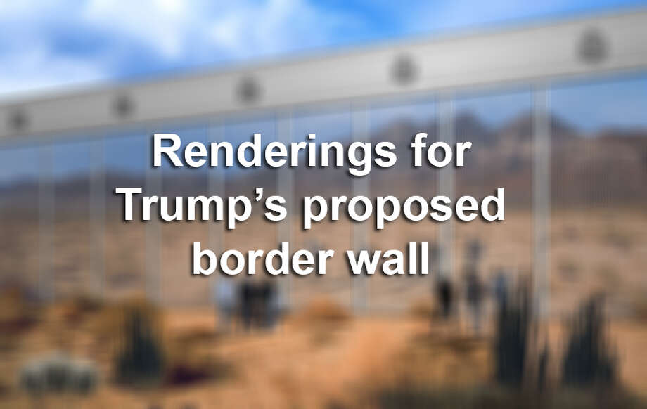 Click through this gallery to see the renderings of proposed ideas for Trump's border wall.