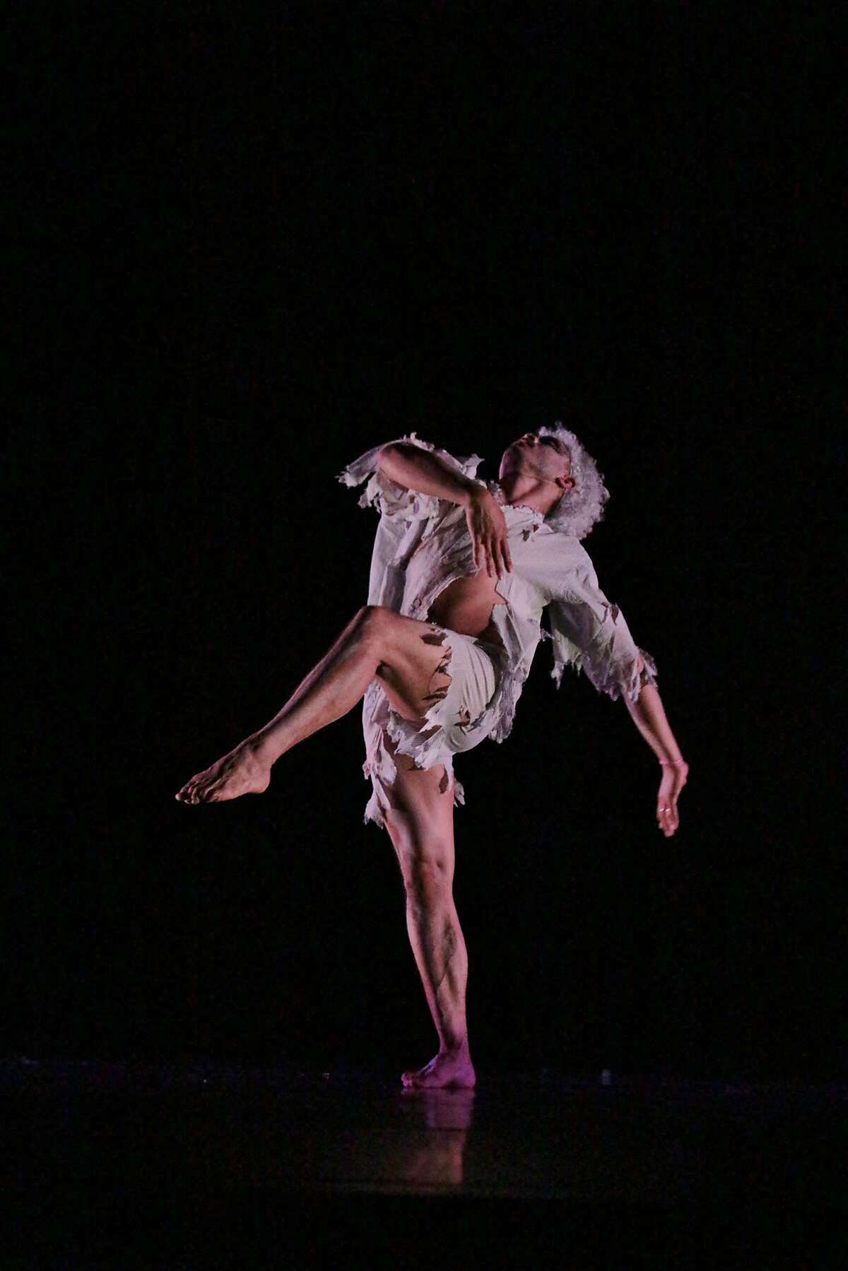 Melecio Estrella performs in an excerpt of Remembering the Pool at the Best Western,� at Yerba Buena Center for the Arts, through June 24, 2017