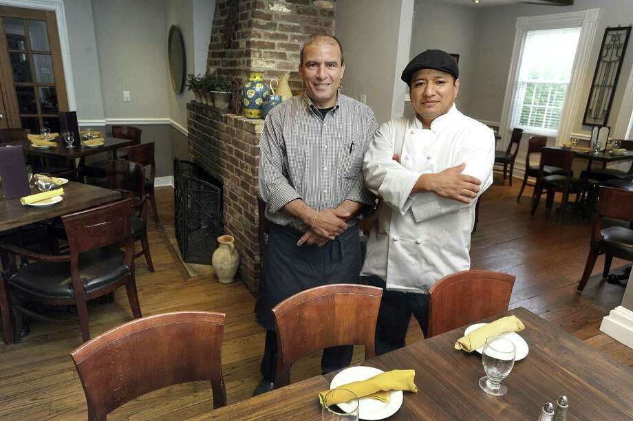 Sammy Halim, left, and Chef Julio Cevallos are co-owners of Angora in Brookfield. Photo Tuesday, June 20, 2017. Photo: Carol Kaliff / Hearst Connecticut Media / The News-Times