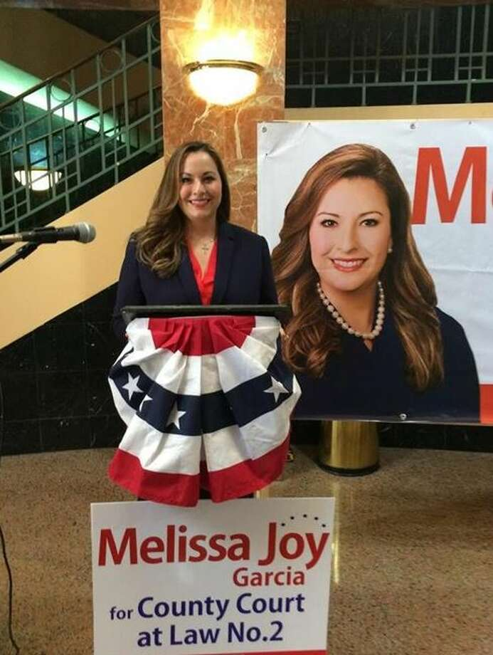 Melissa Joy Garcia announced her candidacy for Court at Law II judge Wednesday at the rotunda inside the Webb County Justice Center. Photo: Laredo Morning Times