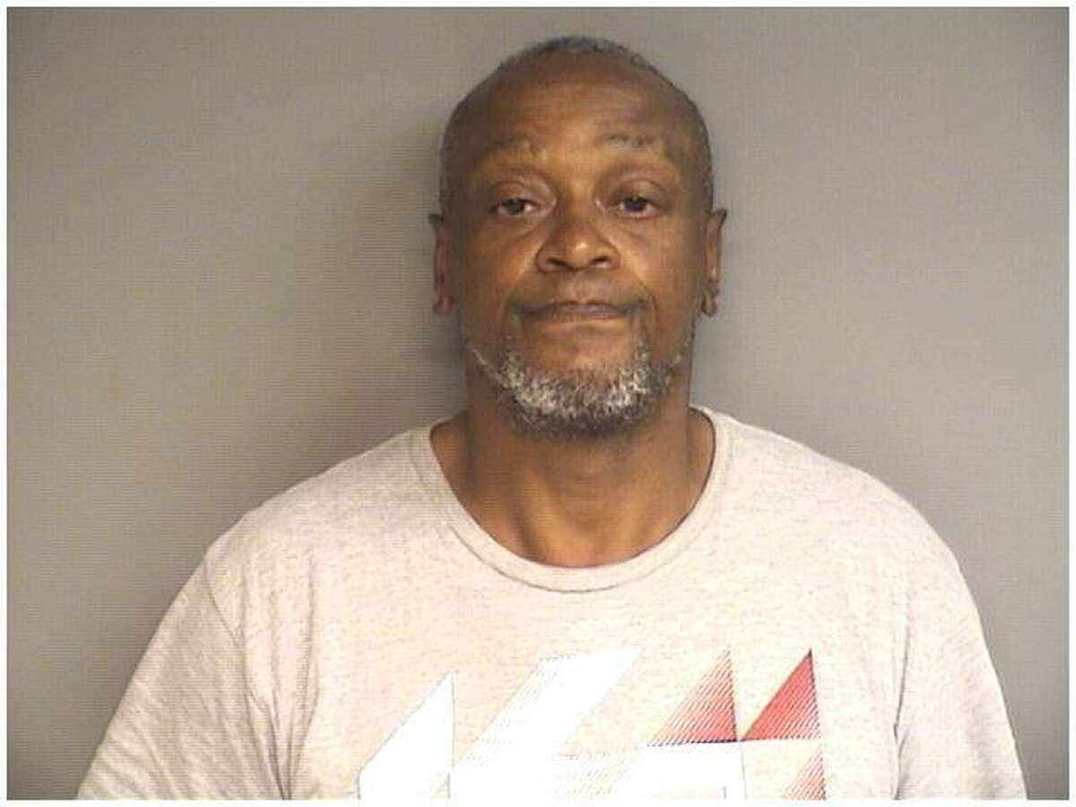 Robin Spearman, 58, of Stamford was charged wtih a hate crime for using his own feces to smear the symbol of a swastika and Star of David onto a glass panel in front of the Rich Forum Media Center Sunday night.