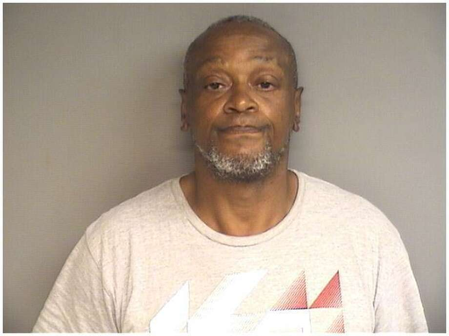 Robin Spearman, 58, of Stamford was charged wtih a hate crime for using his own feces to smear the symbol of a swastika and Star of David onto a glass panel in front of the Rich Forum Media Center Sunday night. Photo: Stamford Police / Contributed