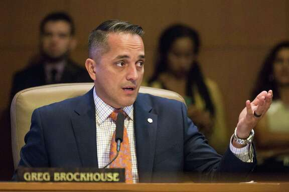 File photo of San Antonio Councilman Greg Brockhouse  during a city council meeting in June. In an open letter to San Antonio released Wednesday, Brockhouse criticized the decision to tell Amazon CEO Jeff Bezos San Antonio wouldn't bid to get its $5 billion second headquarters.
