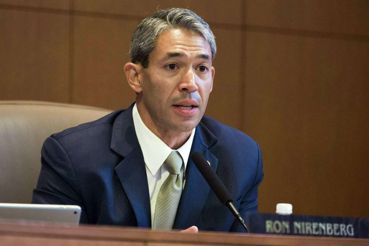 Mayor Ron Nirenberg, seen at a City Council meeting in San Antonio on June 22, 2017, is in Virginia Beach for Sister Cities International board meetings and the group's annual conference.