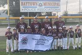 The League City Little League all-star team of 7-year-olds recently captured the District 14 baseball championship.