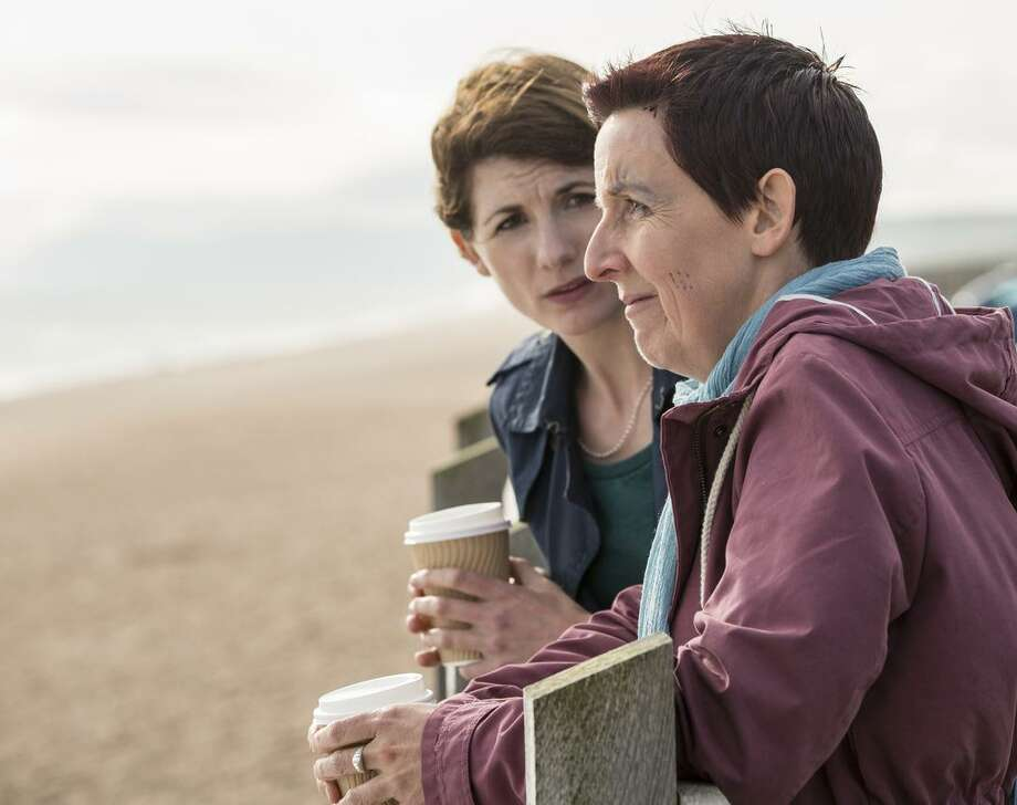 Beth (Jodie Whittaker, left) is the mom of the slain boy from season one, and Trish (Julie Hes mond halgh) is a rape victim in season three. Photo: Colin Hutton / Colin Hutton / Kudos/Imaginary Friends/Sister Pictures/ITV