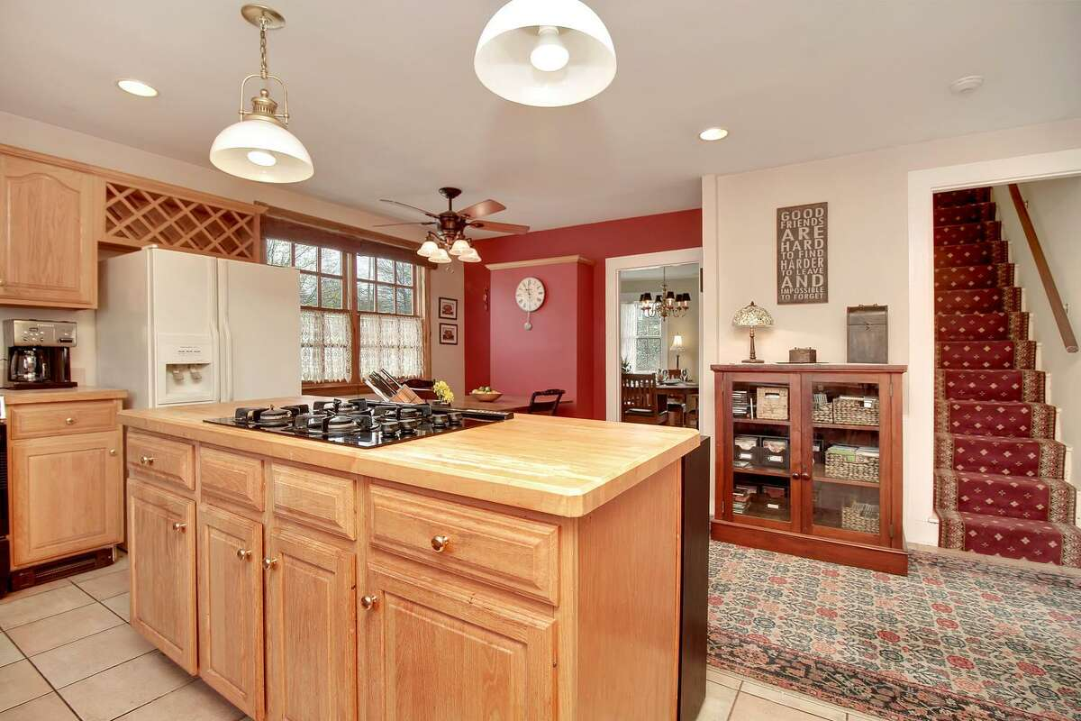 The owners renovated the kitchen in the Trumbull house and added modern equipment.