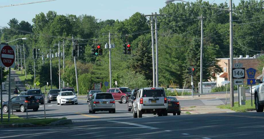 New York State Department of Transportation is planning to construct a new roundabout in Clifton Park. Keep clicking for more recent roundabouts that have popped up in the Capital Region. Photo: SKIP DICKSTEIN, Albany Times Union / 20040858A