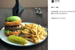 Buns Bar has created the cheesiest cheeseburger and there's no bun! (Buns Bar/Instagram)