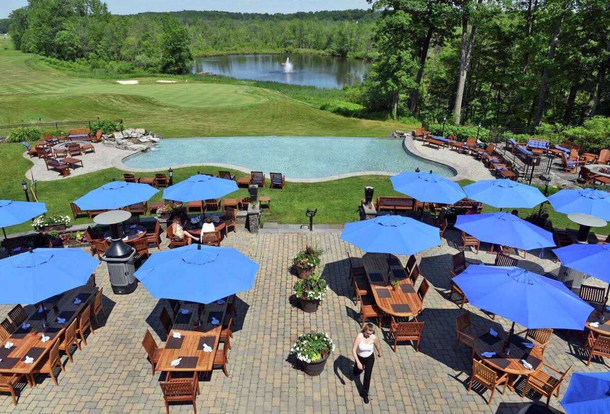 The expansive terraces at Prime at Saratoga National will be the site of Oyster + Wing Fest on Oct. 22 and 23, 2021.