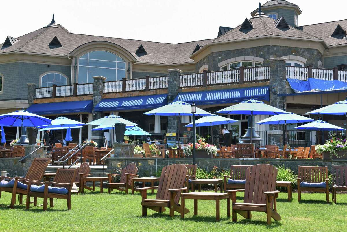Outside seating and veranda at Prime at Saratoga National Thursday June 15, 2017 in Saratoga Springs, NY. (John Carl D'Annibale / Times Union)