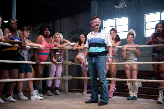 """I've never been around that many women,"" Marc Maron said of his ""GLOW"" role of Sam Sylvia, a washed-up filmmaker who starts a wrestling team."