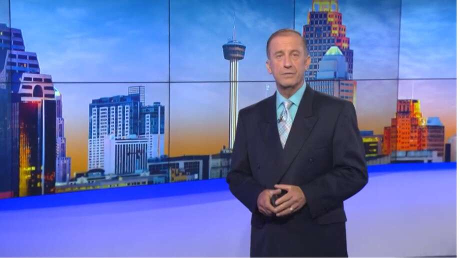 KENS anchorman Barry Davis kept his emotions in check when he broke the news of his Stage III prostate cancer on TV, but became tearful when he read the many heartfelt messages from viewers. Photo: KENS-TV Screen Grab