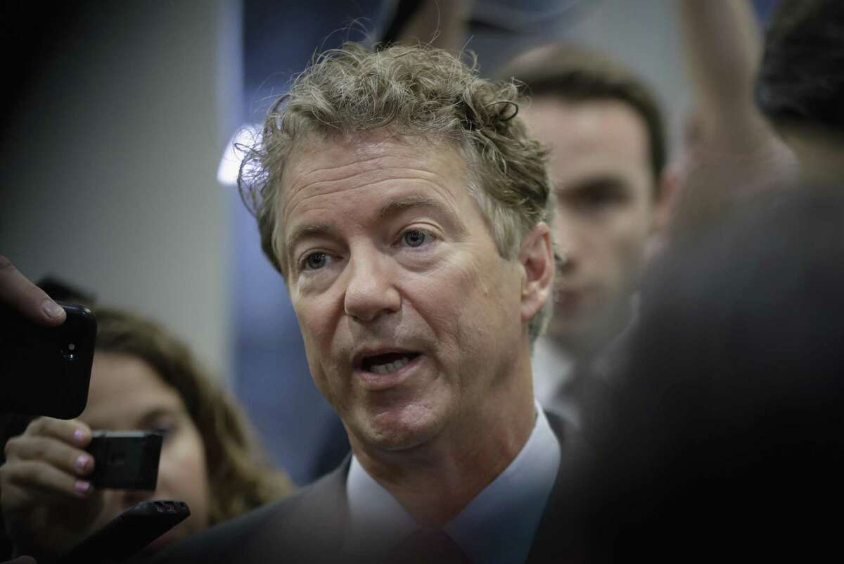 Sen. Rand Paul, R-Ky., speaks to reporters at the Capitol after Republicans released their long-awaited bill to scuttle much of President Barack Obama's Affordable Care Act, at the Capitol in Washington, Thursday, June 22, 2017. He is one of four GOP senators to say they are opposed it but are open to negotiations, which could put the measure in immediate jeopardy.