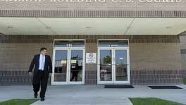 Newly elected District 8 councilman Manny Palaez exits the federal courthouse in Del Rio Thursday, June 22, 2016 after he testified in the federal  bribery, wire fraud and conspiracy trial against former Crystal City manager/attorney James Jonas III and former mayor Ricardo Lopez.