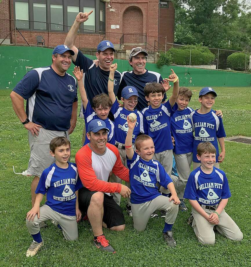 The Rowayton Little League William Pitt Sotheby Sluggers won a thrilling 16-15 game over Briggs Tire to claim the AA championship last week. Photo: Contributed Photo / Norwalk Hour