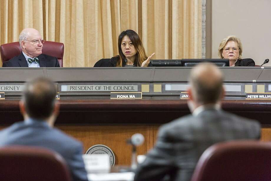 Fiona Ma, chair of the California Board of Equalization, speaks during a recent meeting. Photo: Eric Kayne, Special To The Chronicle