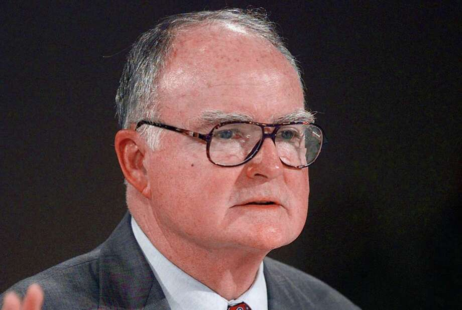 FILE - This July 28, 1997 file photo shows William Ruckelshaus, the first EPA administrator under President Nixon and who also served under President Ronald Reagan, speaking in Las Vegas. Top environmental regulators for four Republican presidents told Congress on Wednesday what many Republican lawmakers won't: Action is needed on global warming. (AP Photo/Jack Dempsey, File ) Photo: Jack Dempsey / Associated Press / AP