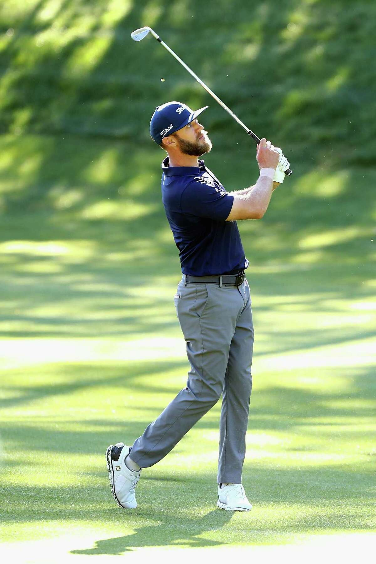 Graham DeLaet plays a shot on the 14th hole during the first round of the Travelers Championship on Thursday in Cromwell.