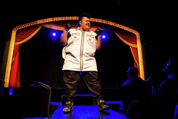Bay Area based drag king Chico Suave performs at the Dandy show at the  Oasis bar in San Francisco on February 24, 2017.