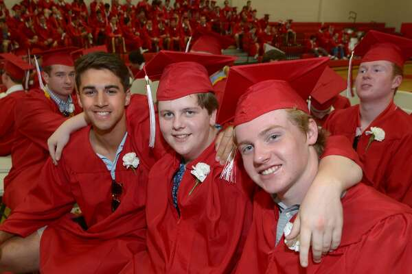 The New Canaan High School commencement exercises Tuesday, June 20, 2017, in New Canaan, Conn.