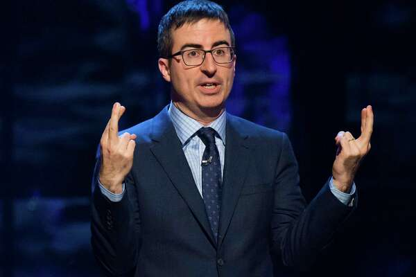 """Last Week Tonight"" host John Oliver speaks on Feb. 28, 2015, in New York."