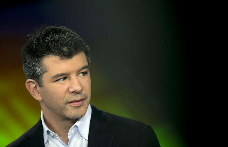 FILE PHOTO: Travis Kalanick, chief executive officer of Uber Technology Inc., listens during a Bloomberg Television interview in New York, U.S., on Monday, June 9, 2014. Kalanick�has resigned from his job leading�Uber Technologies Inc., giving up on his effort to hold onto power as a torrent of self-inflicted scandals enveloped him and the global ride-hailing leviathan he co-founded. Photographer: Scott Eells/Bloomberg