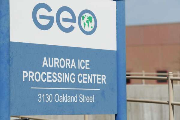 GEO Group runs this immigrant detention facility in Aurora, Colo. People once held in the privately run immigration detention center are challenging the system used to keep it clean and maintained. The pay is $1 a day.