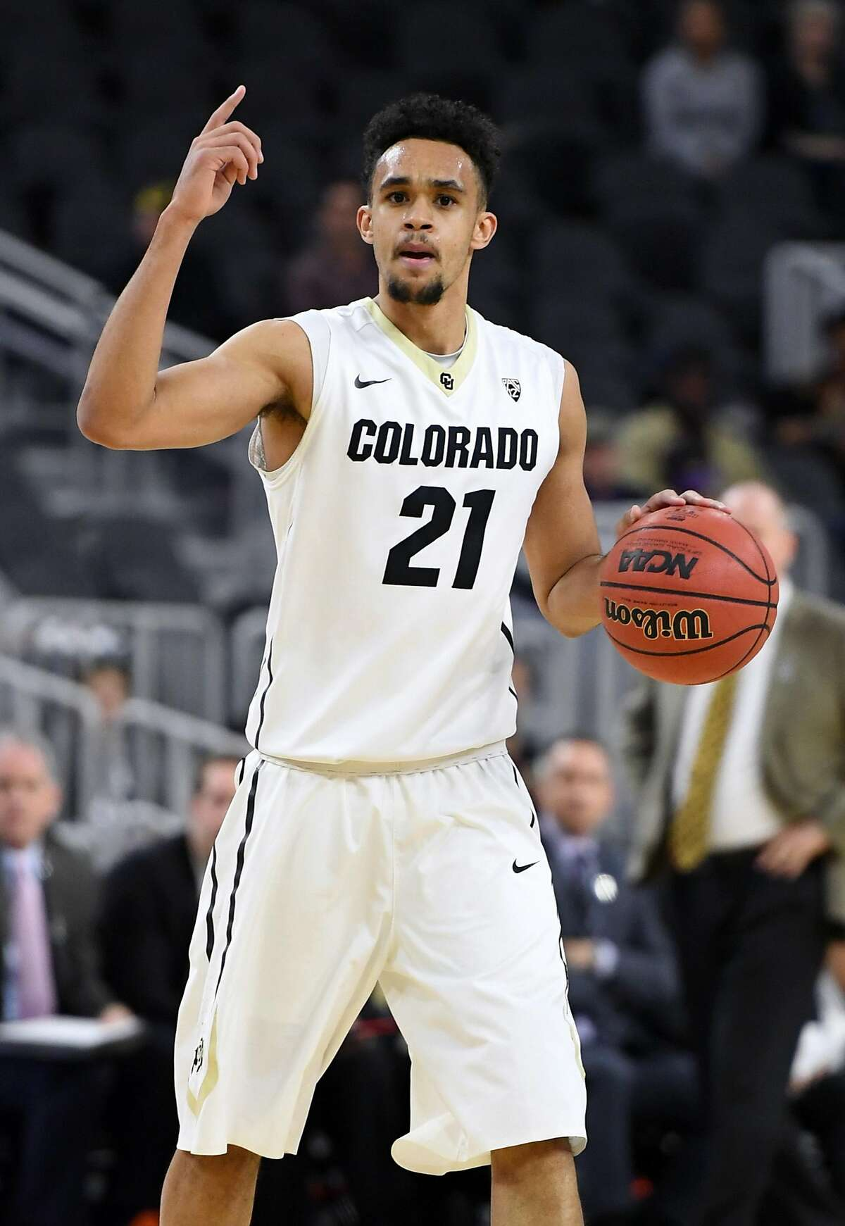 The San Antonio Spurs selected Derrick White, 24, as the 29th pick in the NBA draft Thursday. Click ahead to learn about the newest Spur.